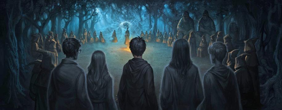 Voldemort PM B7C34M1 VoldemortAndDeathEatersInForbiddenForest Moment