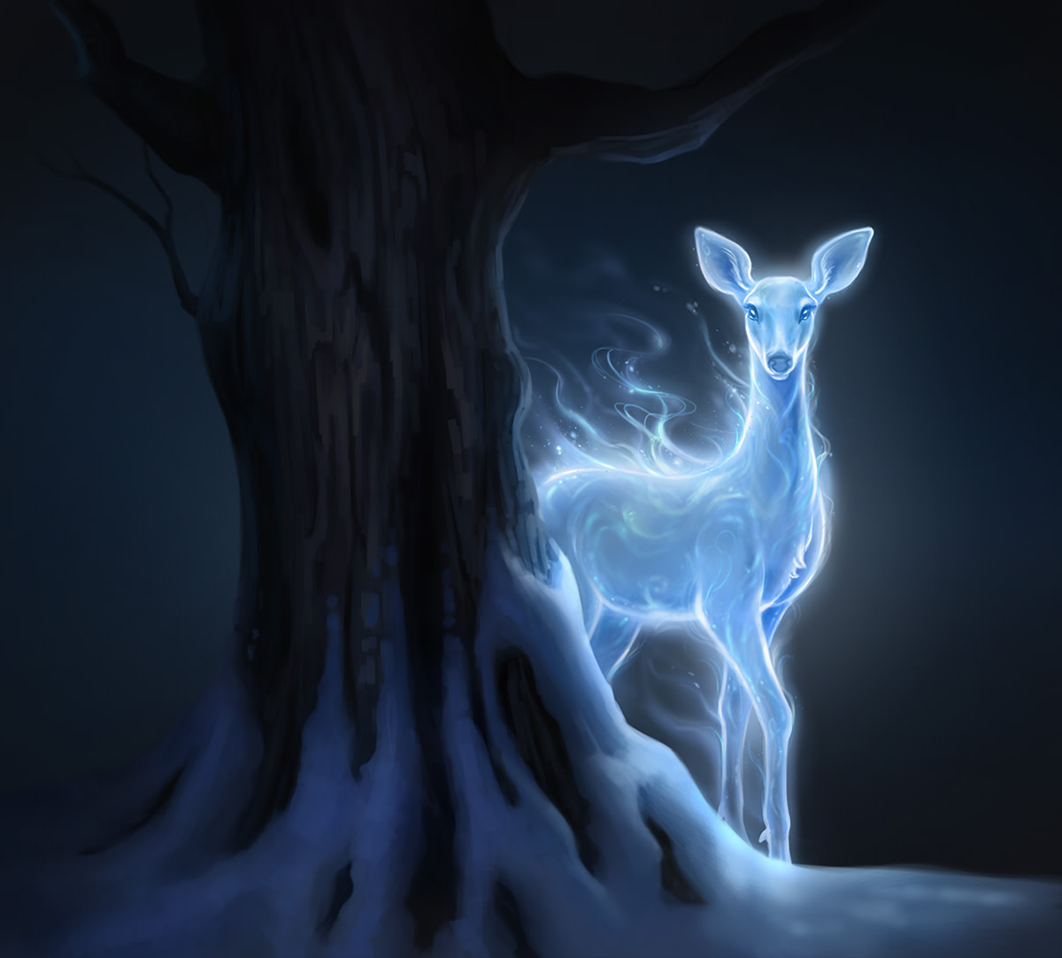 PM Patronus Silver Doe Moment Still