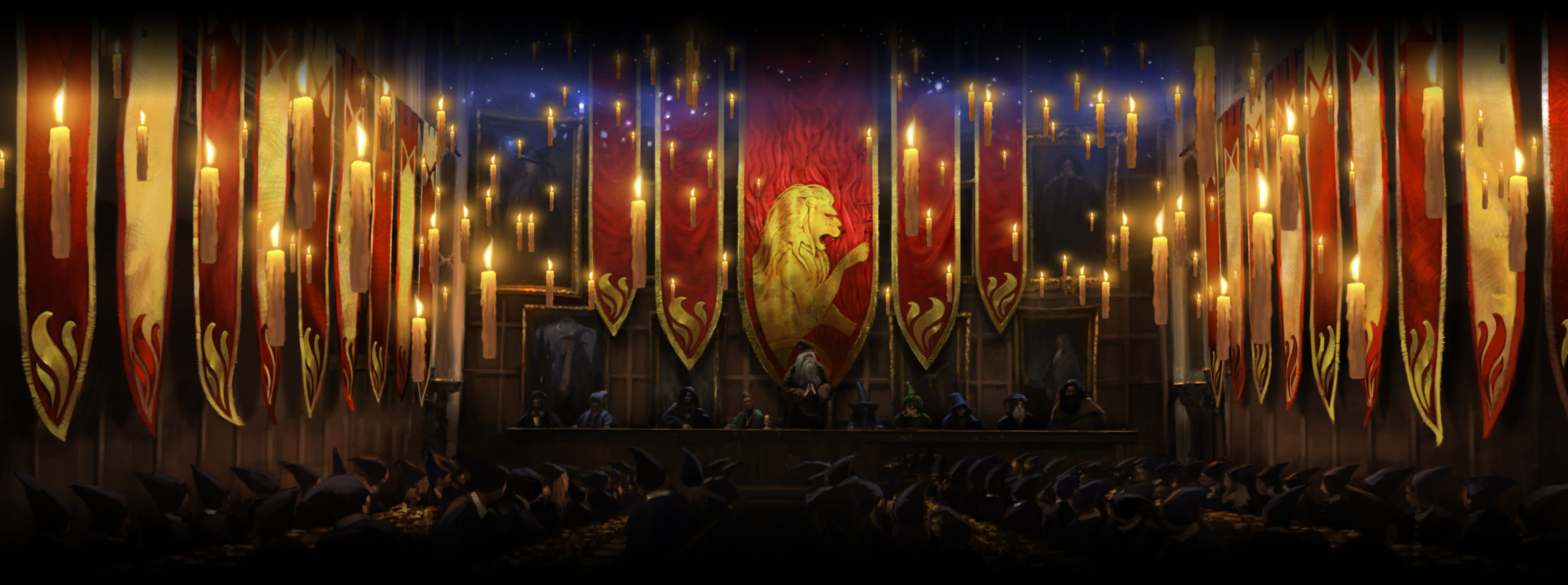 GreatHall PM B1C17M3 gryffindorWinningHouseCup Moment