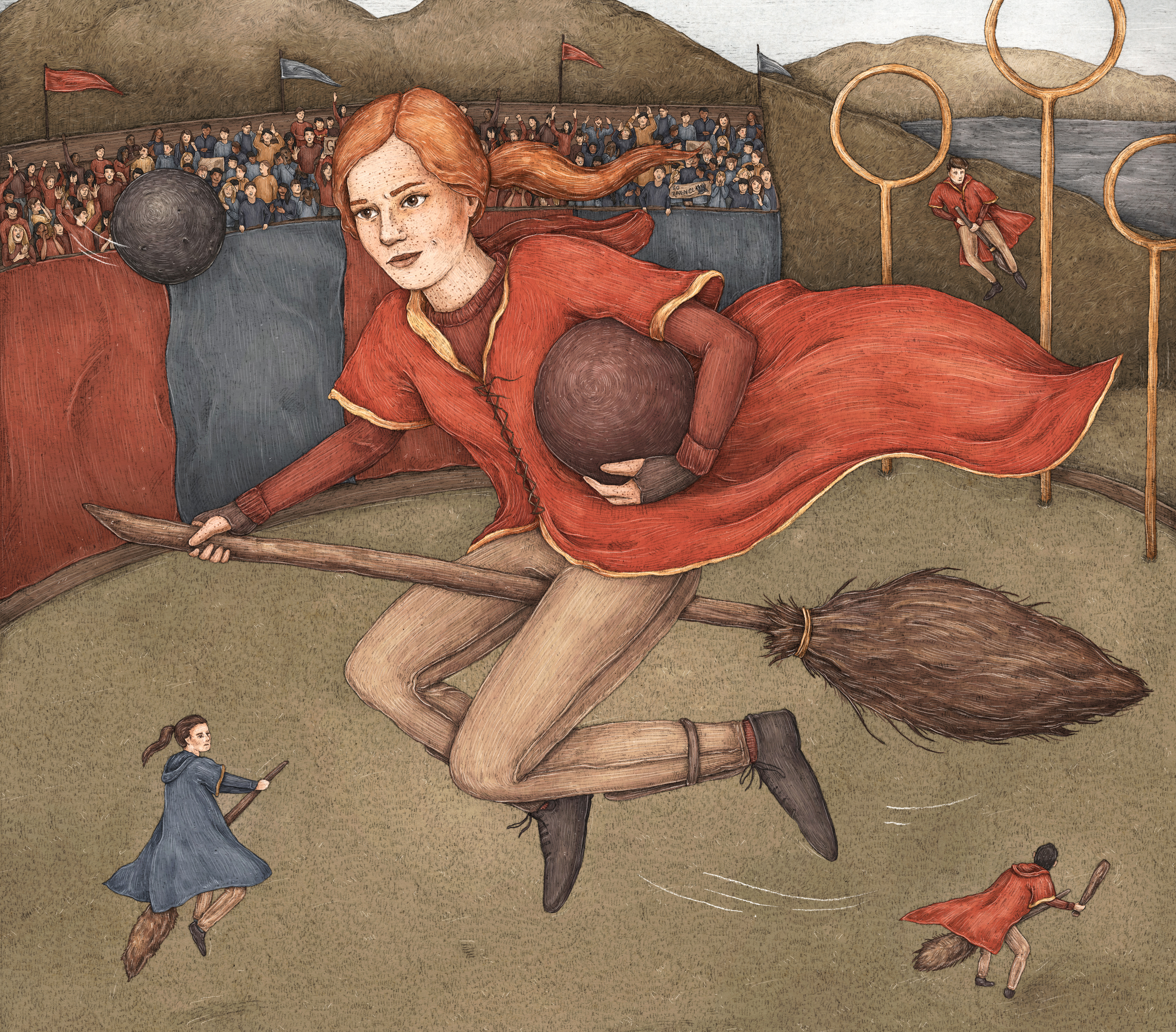 Ginny playing Quidditch Jessica Roux