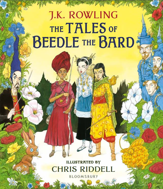 Bloomsbury's cover for The Tales of Beedle the Bard - Illustrated Edition. Artwork by Chris Riddell.
