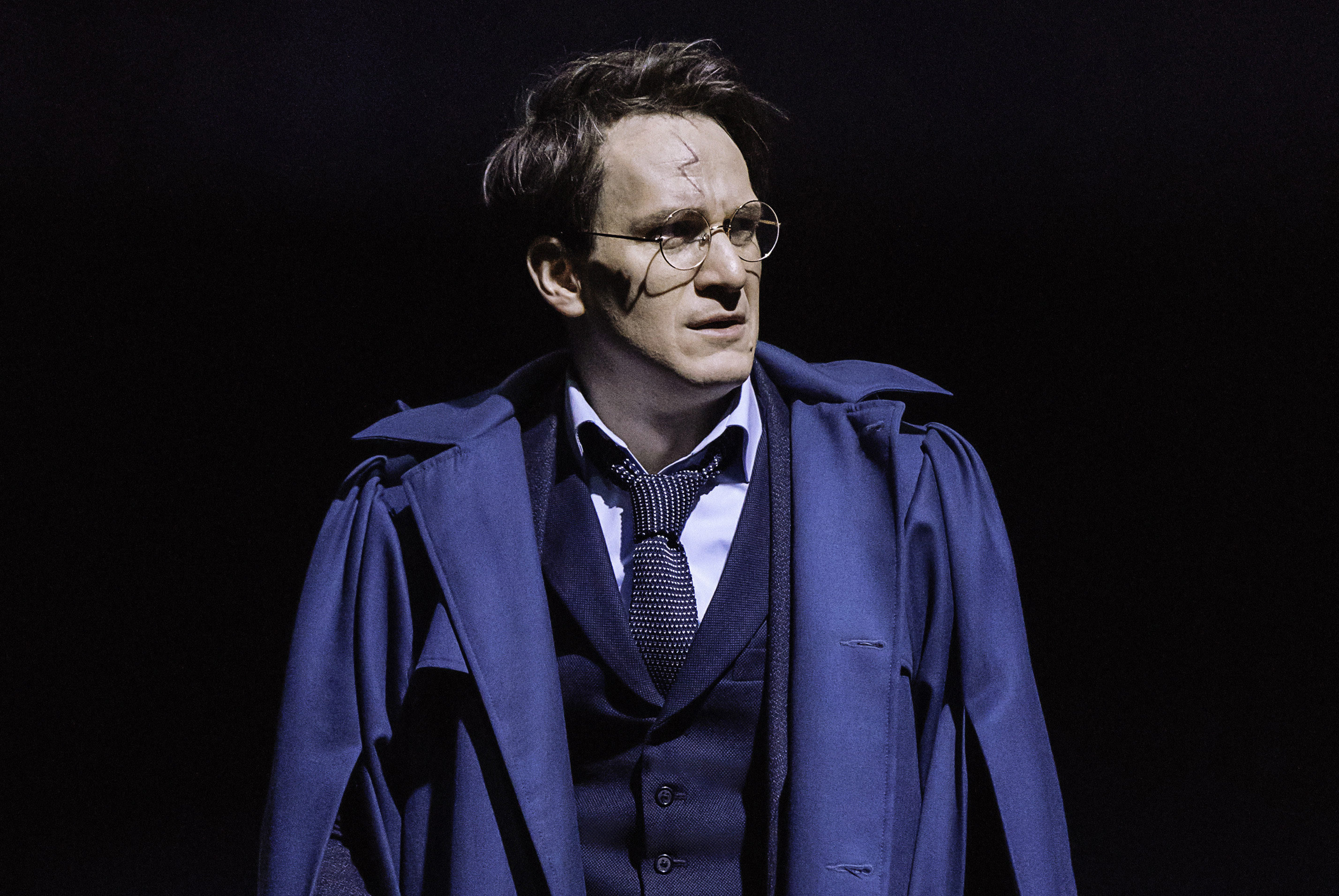 Jamie Parker performing as Harry Potter in Cursed Child on Broadway