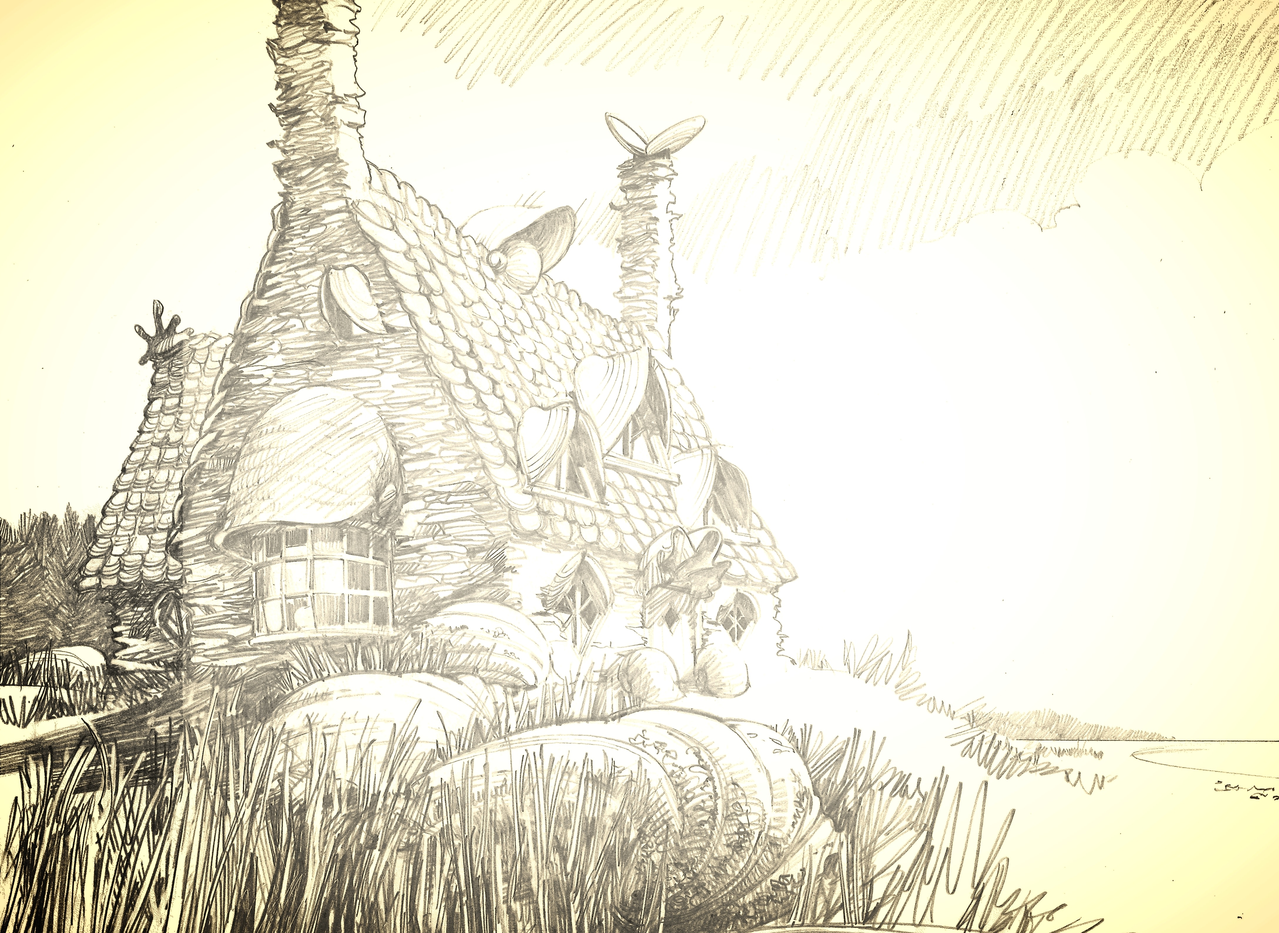 ShellCottage WB F7 ShellCottageSketch Illust 100615 Land