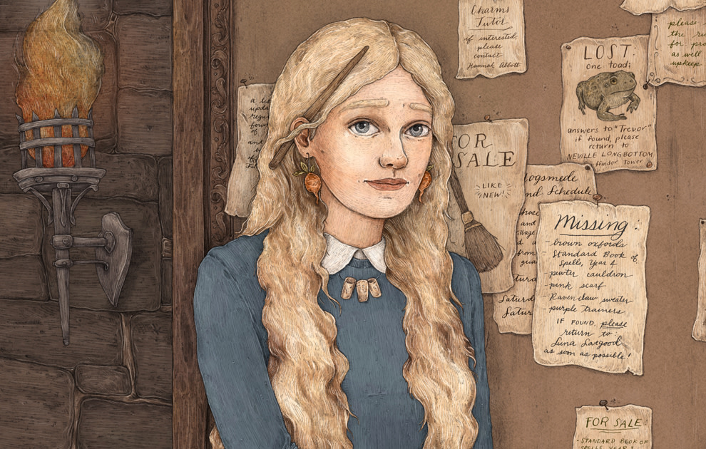 Luna Lovegood illustration Jessica Roux crop