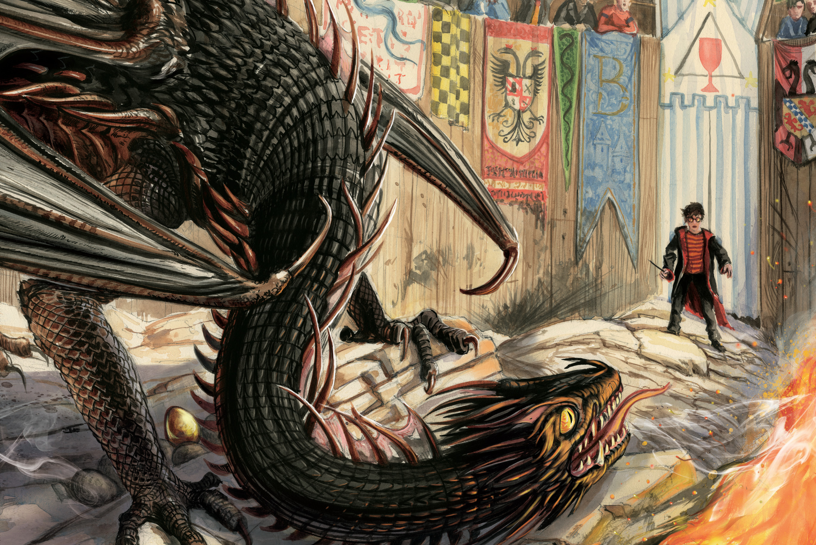 First look at Jim Kay's Illustrated Edition of Harry Potter and ...