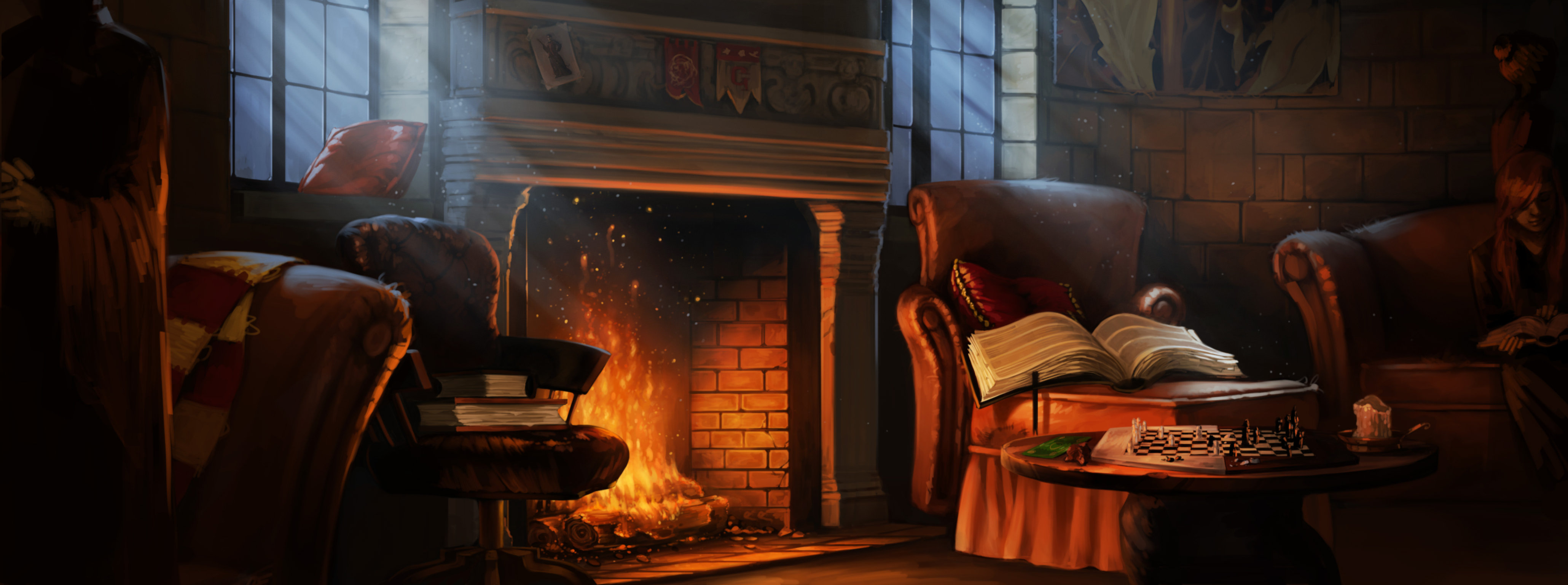 GryffindorCommonRoom PM B1C13M1 GryffindorCommonRoomFireplace Moment