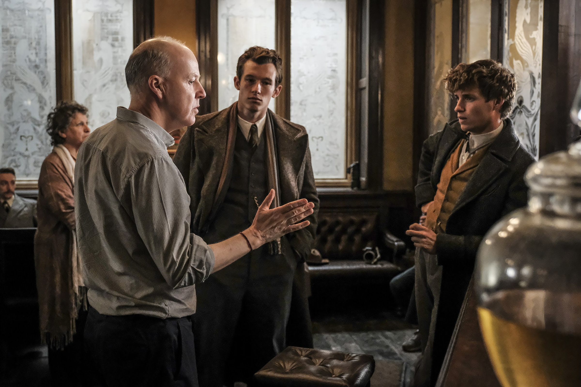 On the Fantastic Beasts: The Crimes of Grindelwald set with David Yates, Callum Turner and Eddie Redmayne