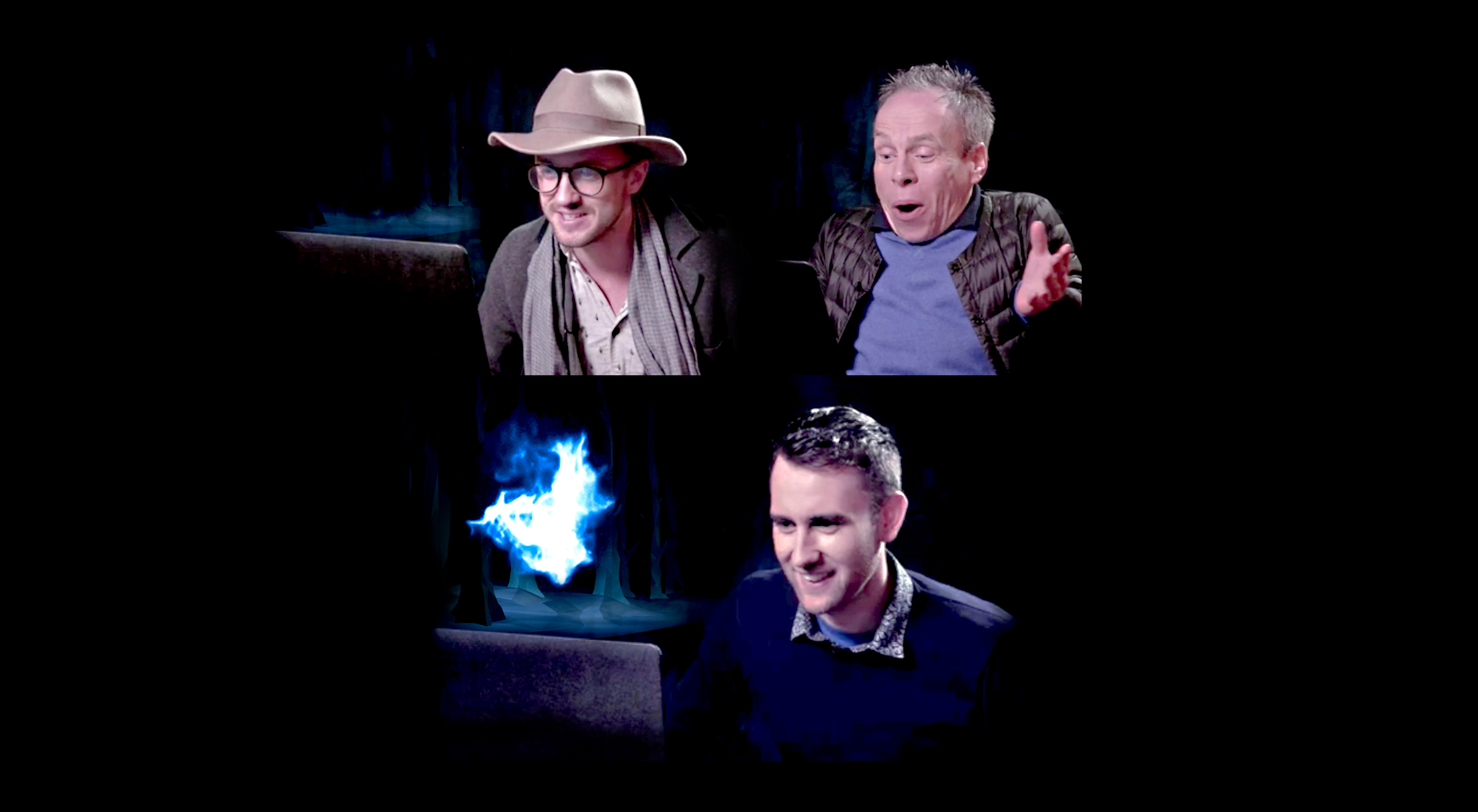 HP actor Patronus hero image Tom Felton Warwick Davis Matthew Lewis more sides