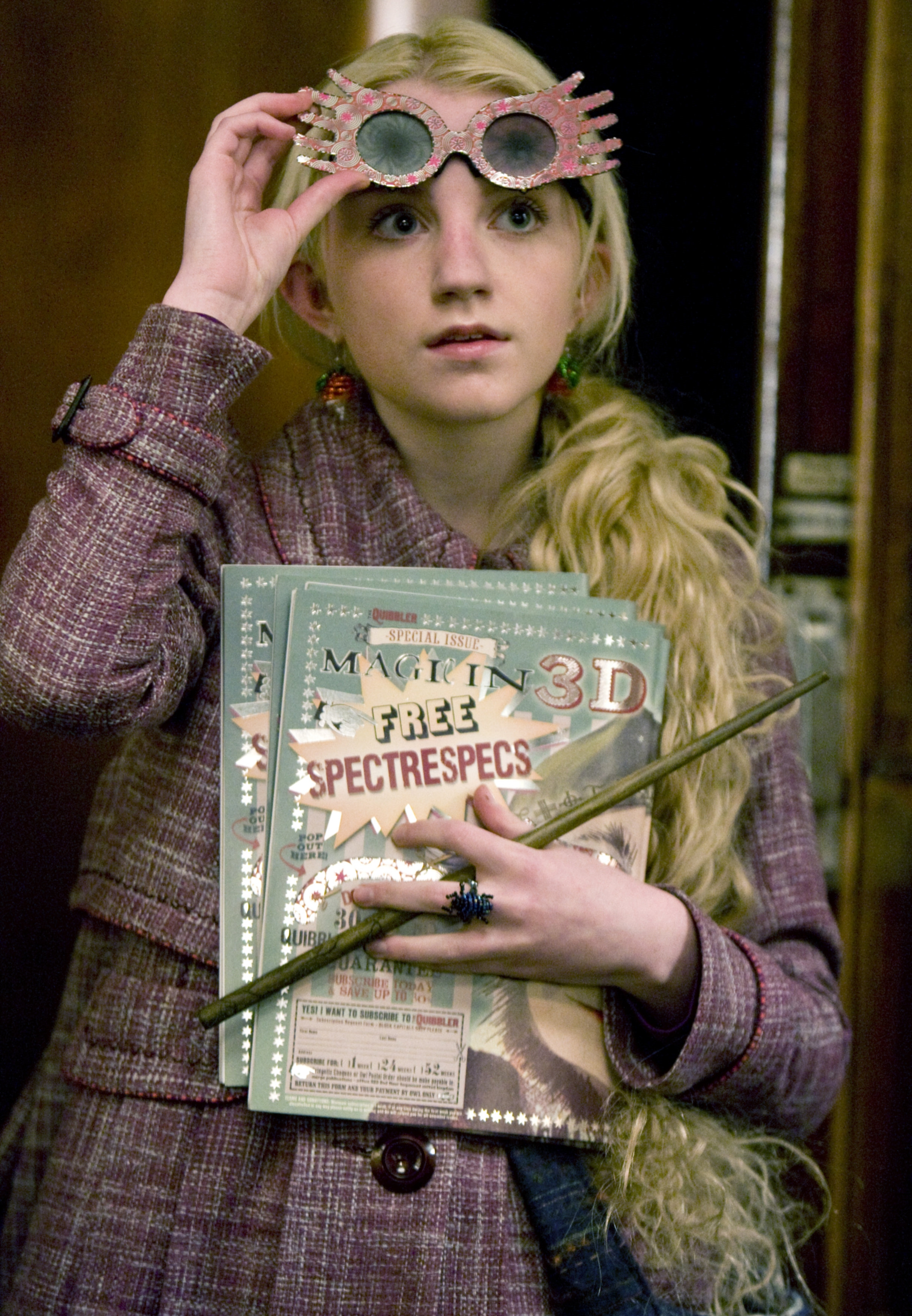 Luna Lovegood WB F6 In Quibbler Specs On Hogwarts Express Still 080615 Port