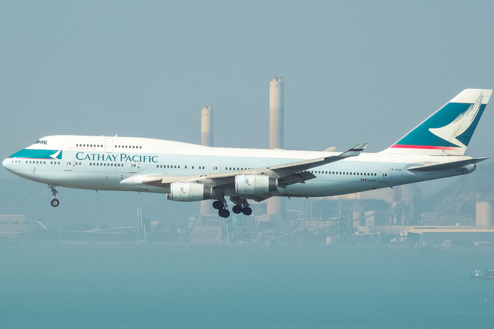 Cathay Pacific Airways airplane