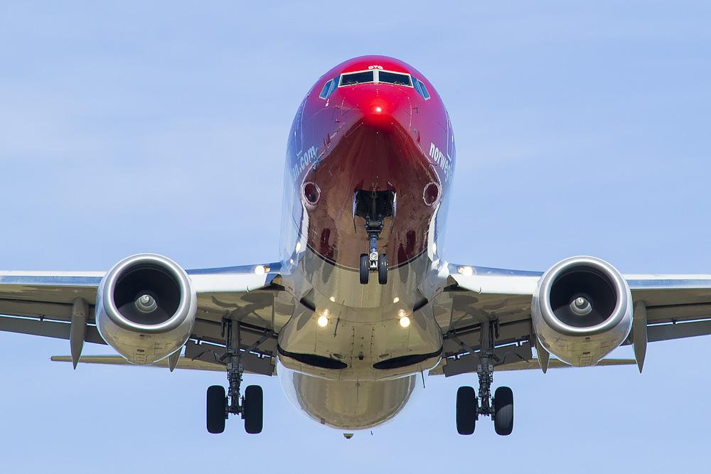 Norwegian airplane taking off