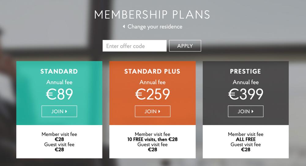 Priority Pass Membership Plans