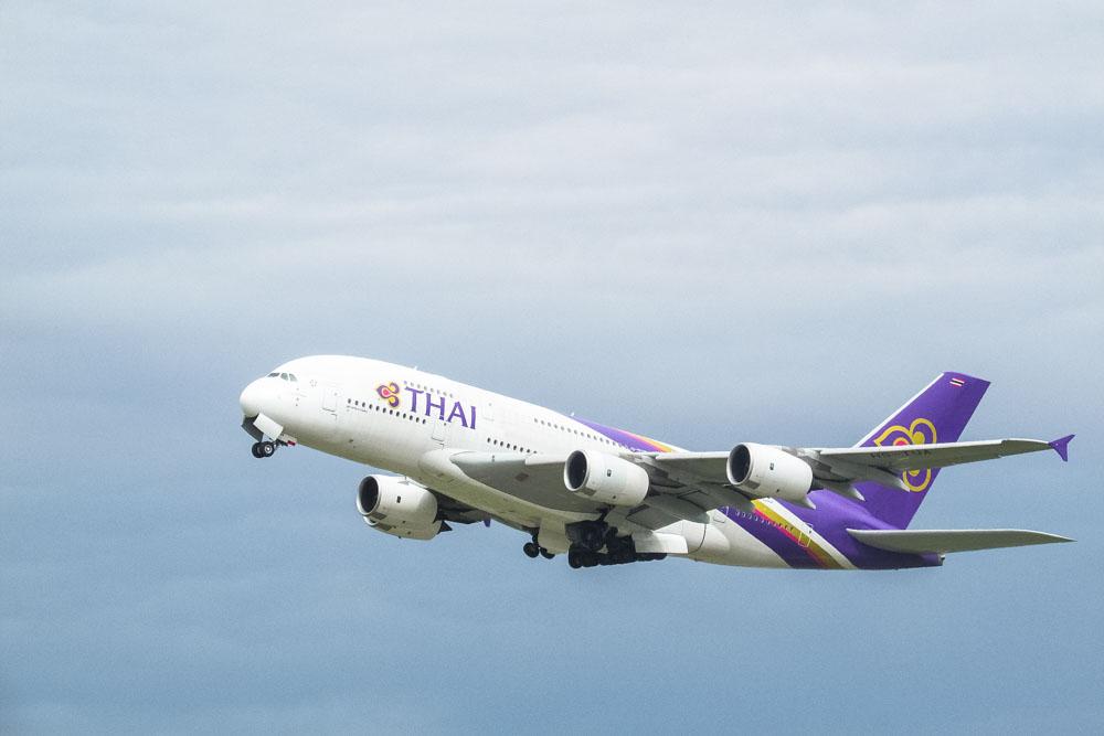 Thai Airways airplane in the air