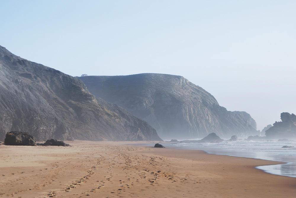 Cliffs on the beach in Portugal