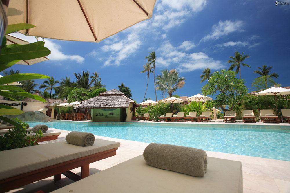 Pool at a resort