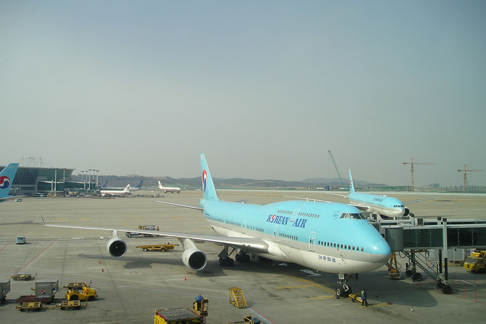 At Seoul Incheon airport