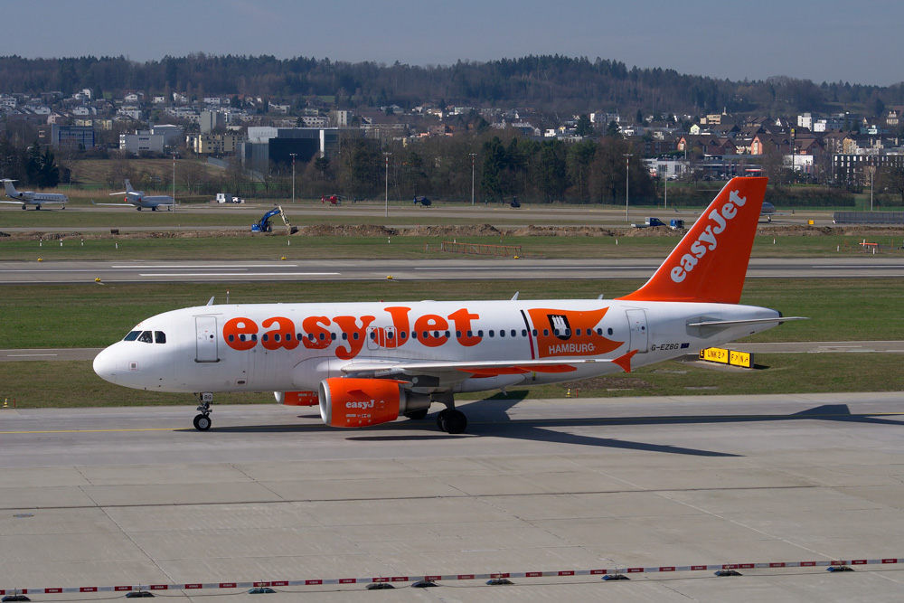 easyjet at the airport