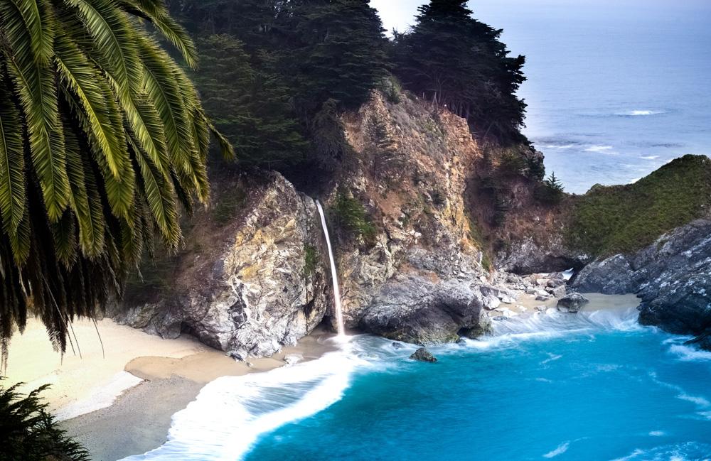 An empty beach in California