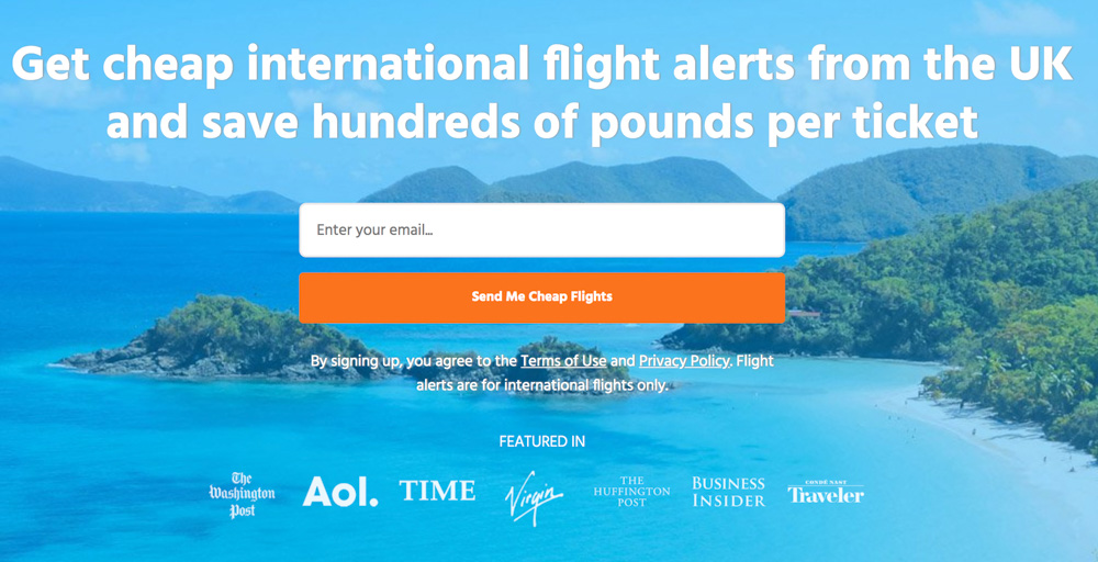 Scott's Cheap Flights deals mailing list - Homepage