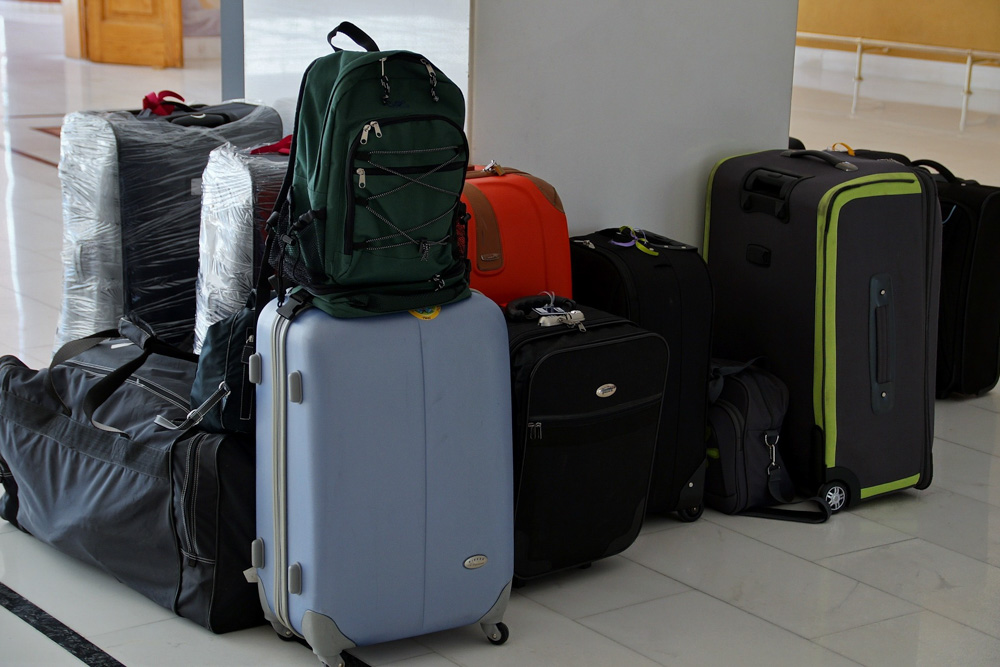 Luggage on the floor