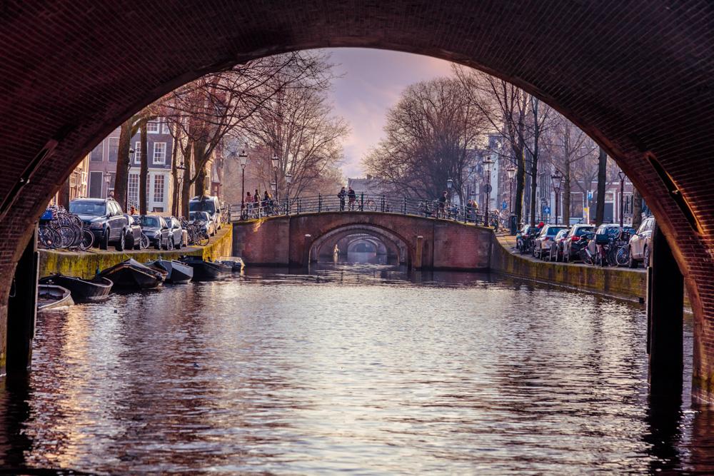 Bridge in Amsterdam, Netherlands
