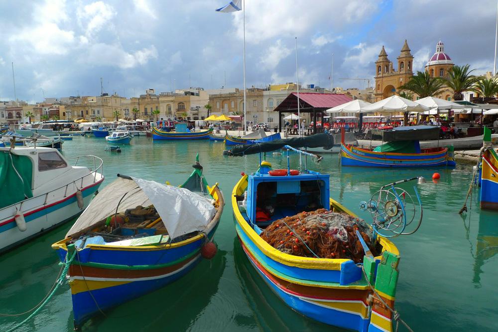 A port in Malta