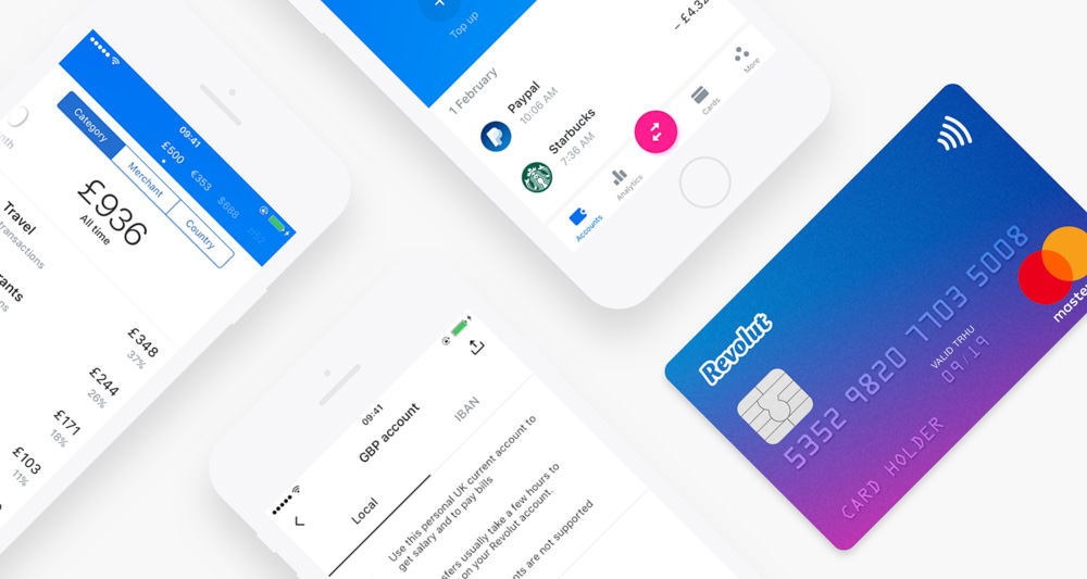 Revolut, one of the best travel debit card in Europe