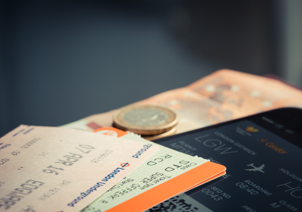 Boarding passes and a smartphone - Travel essentials