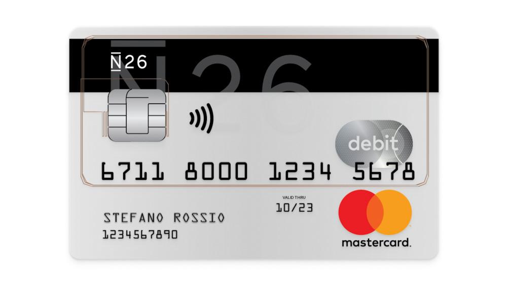 N26 Mastercard - Prepaid travel debit card in Europe