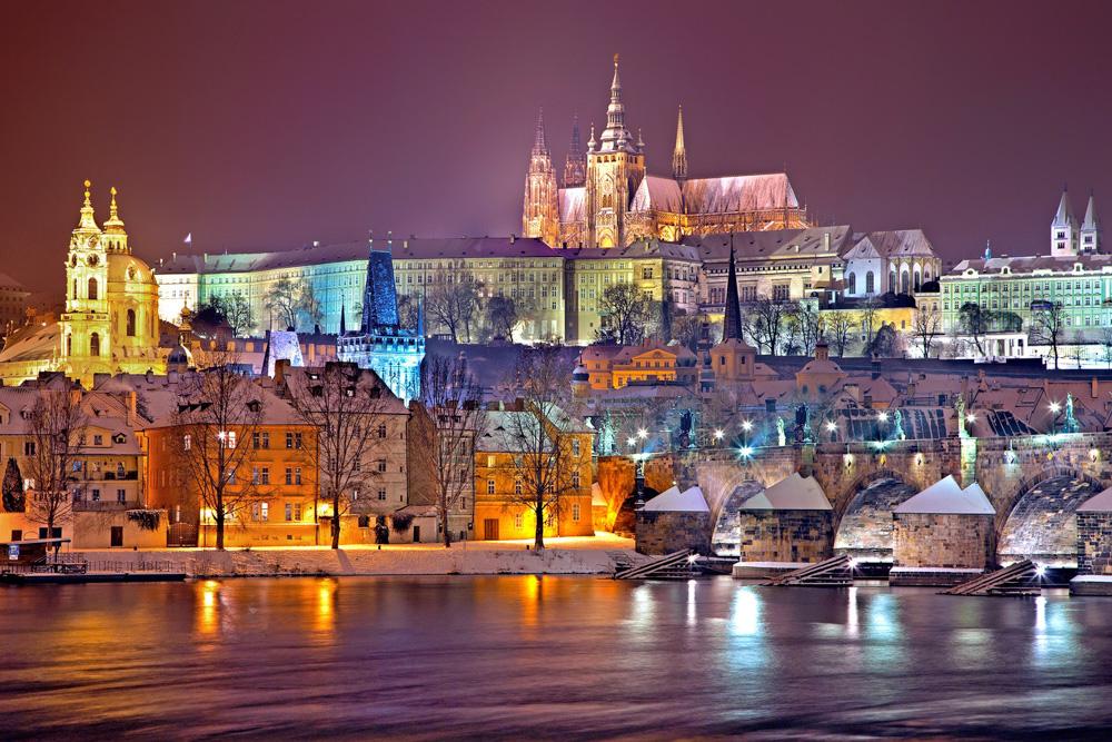 Beautiful buildings in Prague, Czech Republic