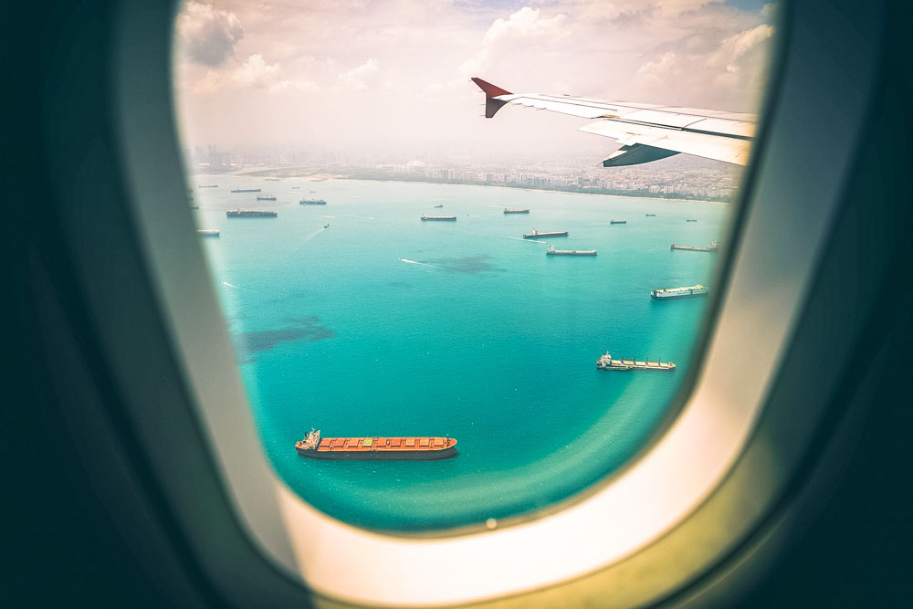 Hainan Airlines airplane window view