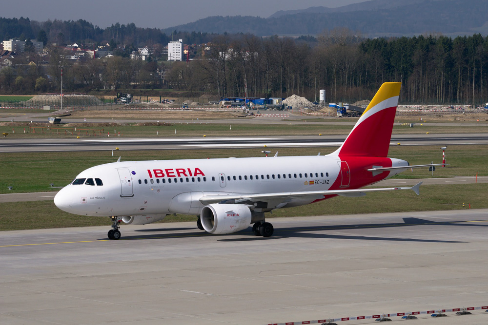 Iberia plane at the airport