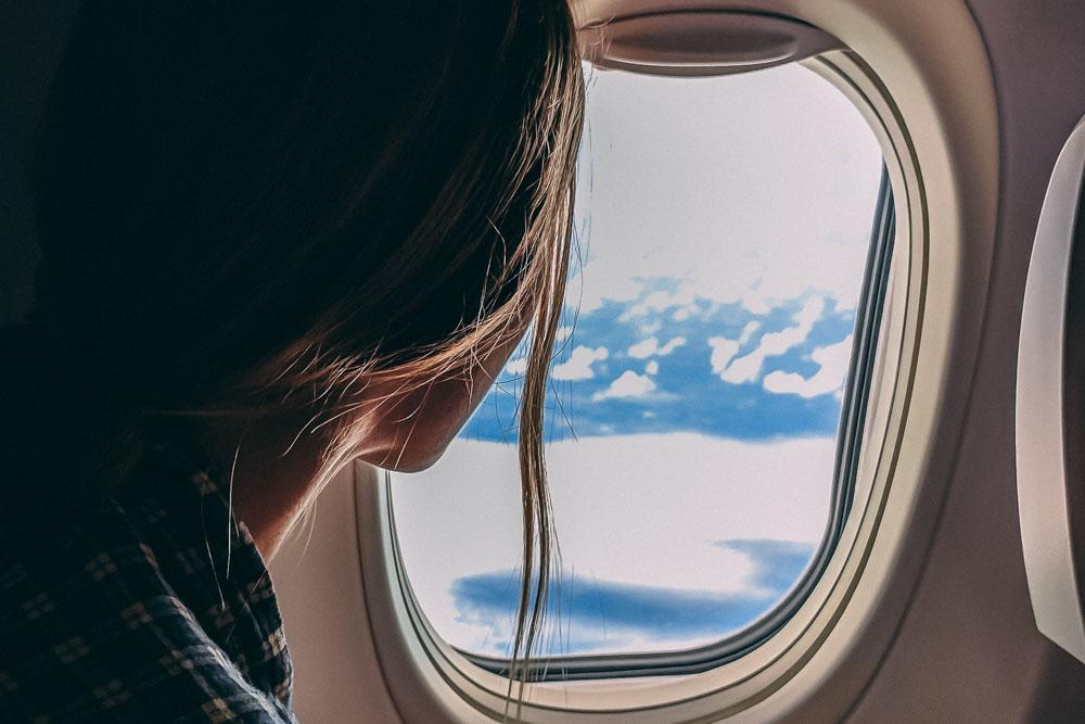 Woman on TUI flight