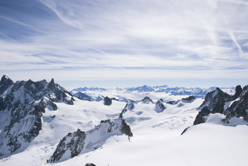 Beautiful mountains covered with snow