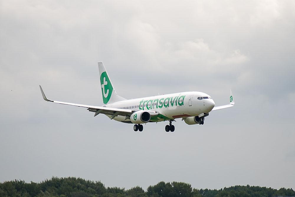 Transavia aircraft in the air