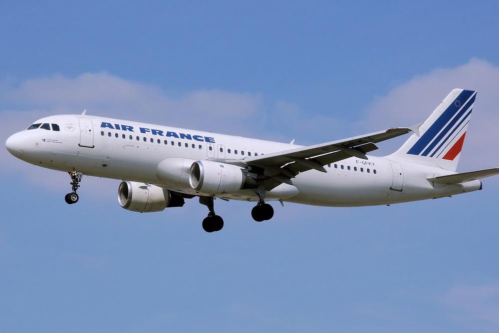 Air France airplane in the air