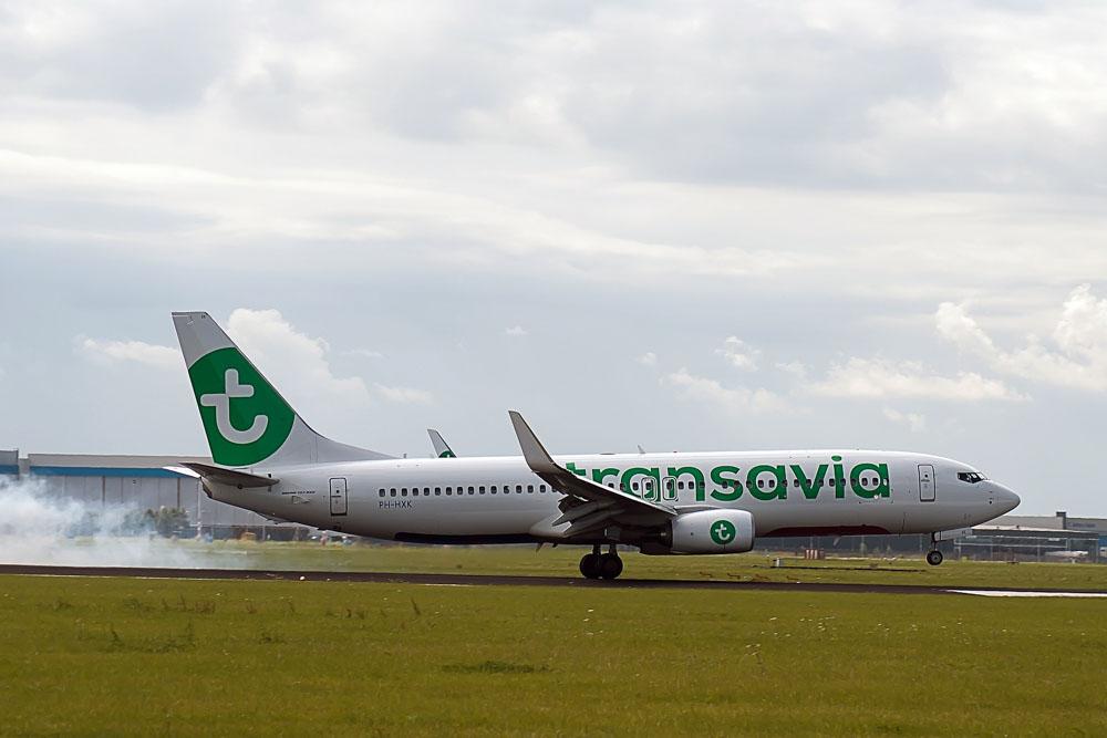 Transavia starting a flight