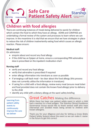 Image safety alert food allergies