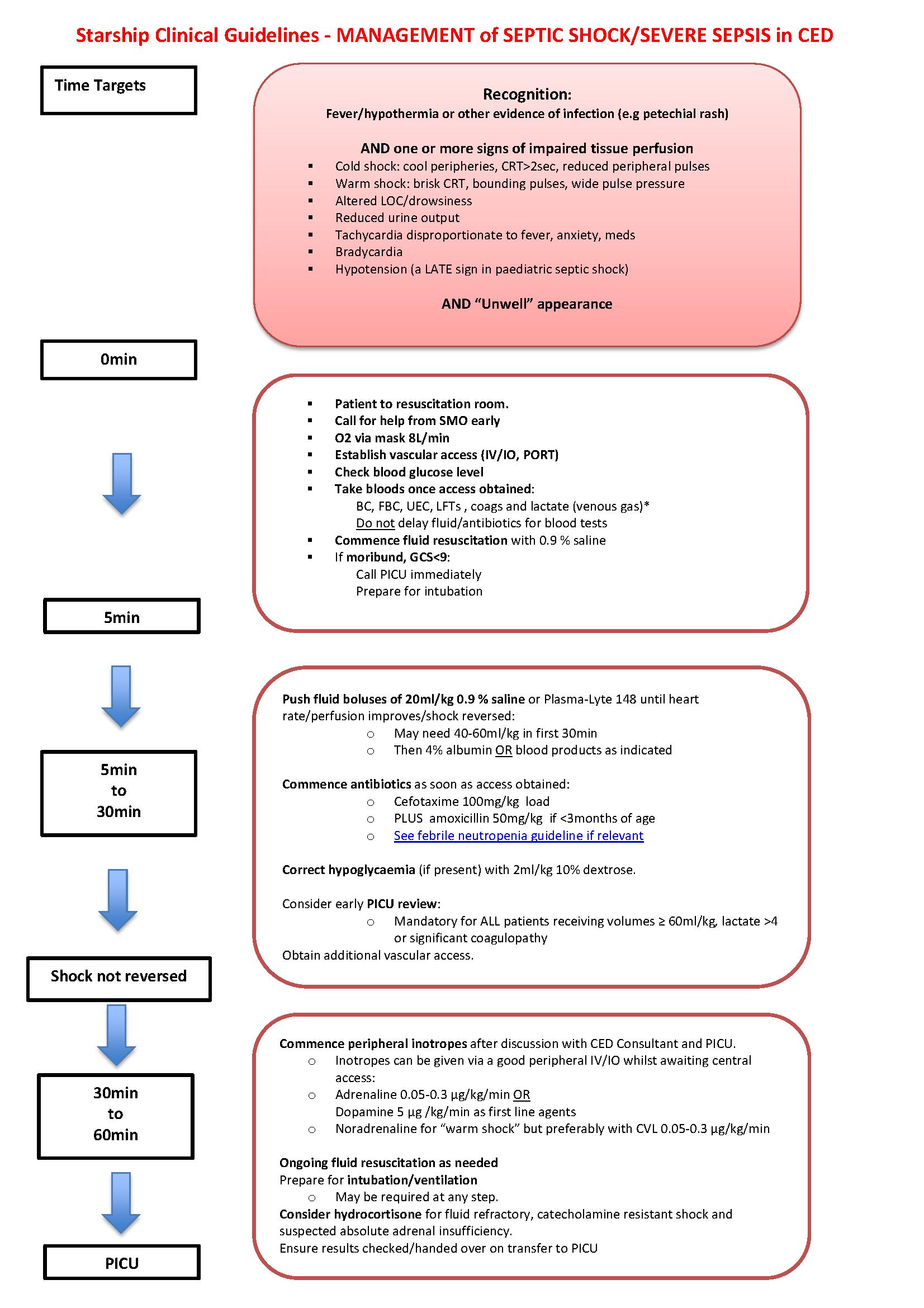 Septic Shock Pathophysiology Flowchart