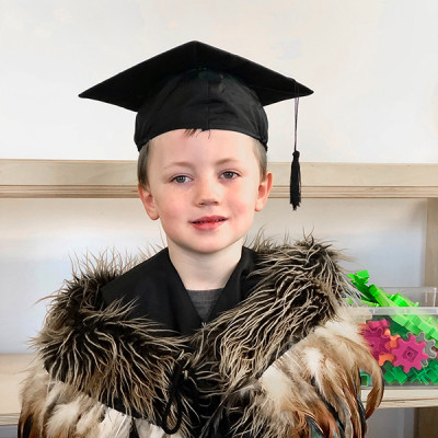 Harri graduating preschool