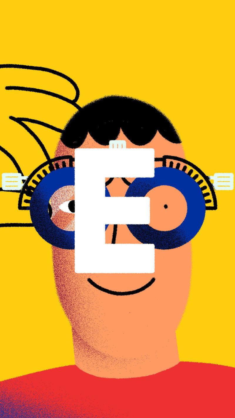 E is for Eye Tests