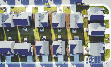 houses aerial