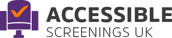 Accessible Screening logo