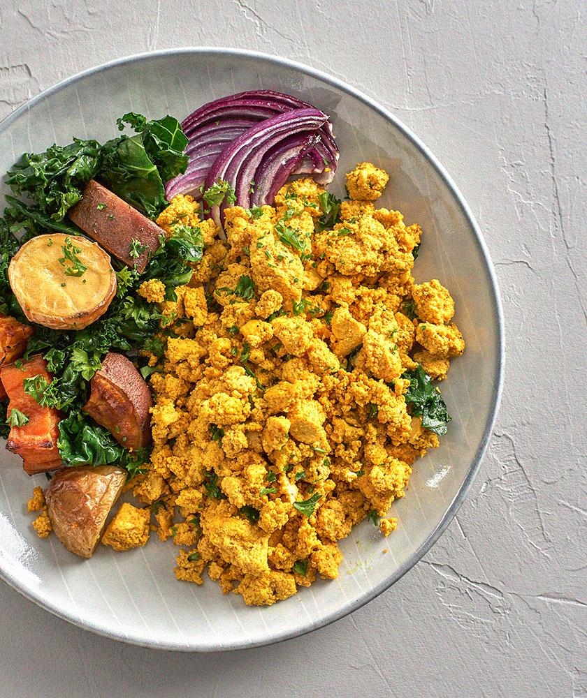 High-Protein Breakfast Ideas—Veggie Scramble