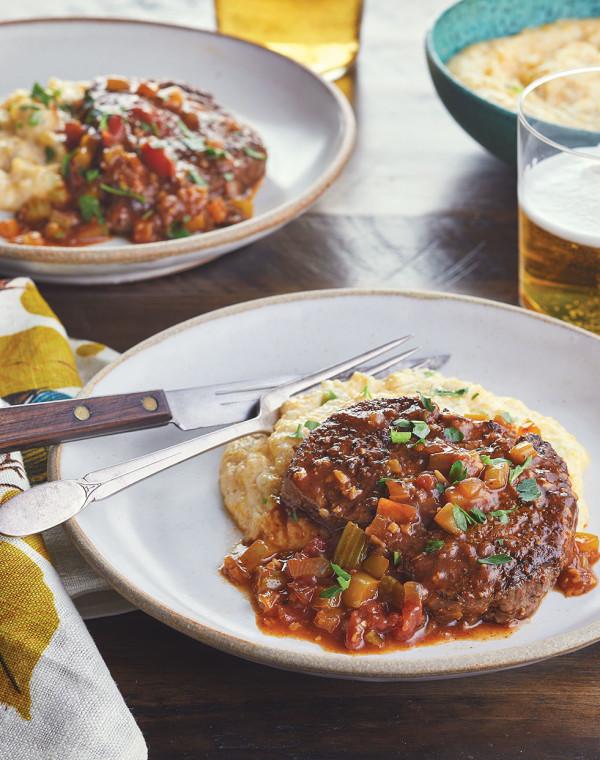 Creole Beef Tenderloin Filets with trinity sauce