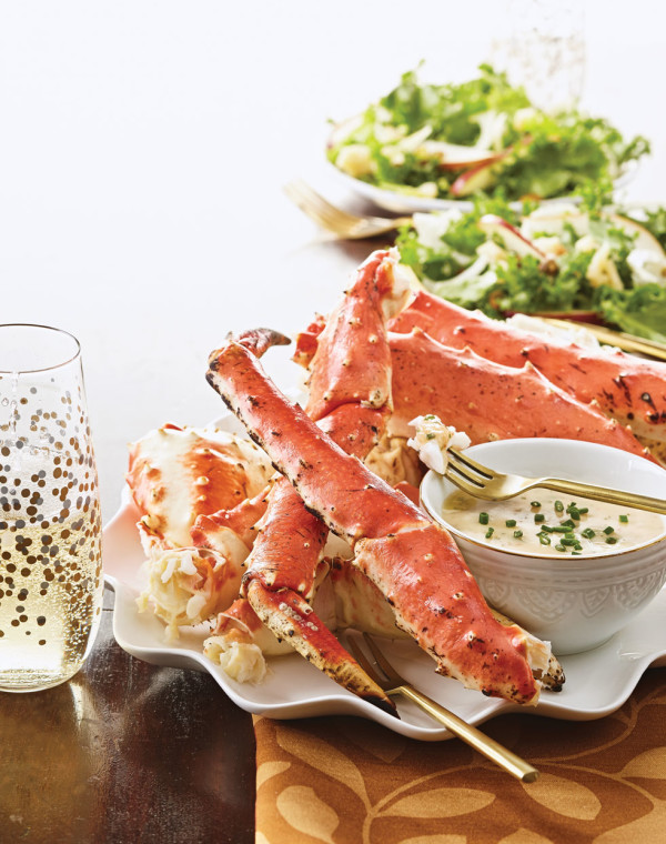 King Crab Legs with Champagne Beurre Blanc