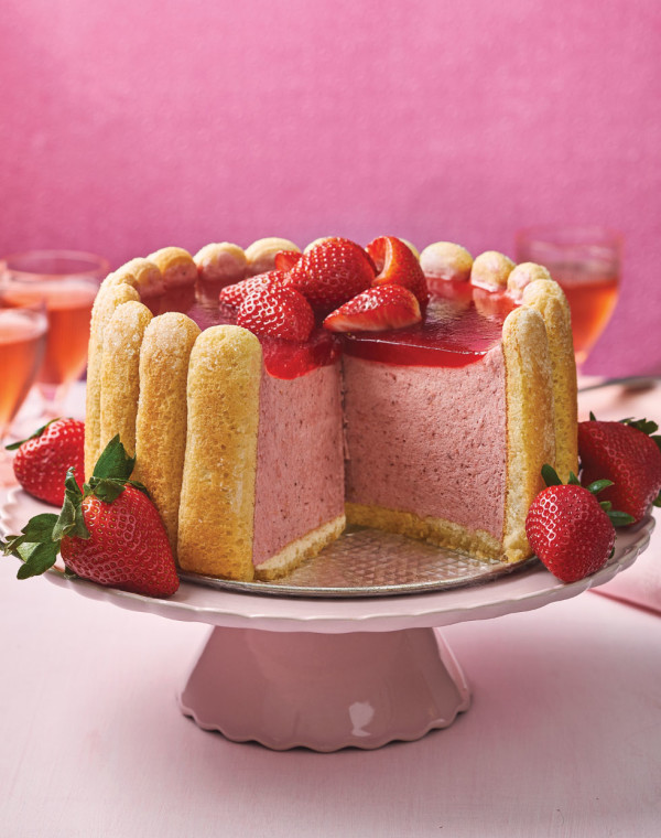 Strawberry-Rhubarb Charlotte