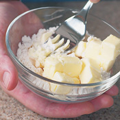 Mix <em>beurre manié</em> by combining equal parts softened butter and flour in a small bowl. Use 2 tsp. <em>buerre manié</em> for the mustard sauce.