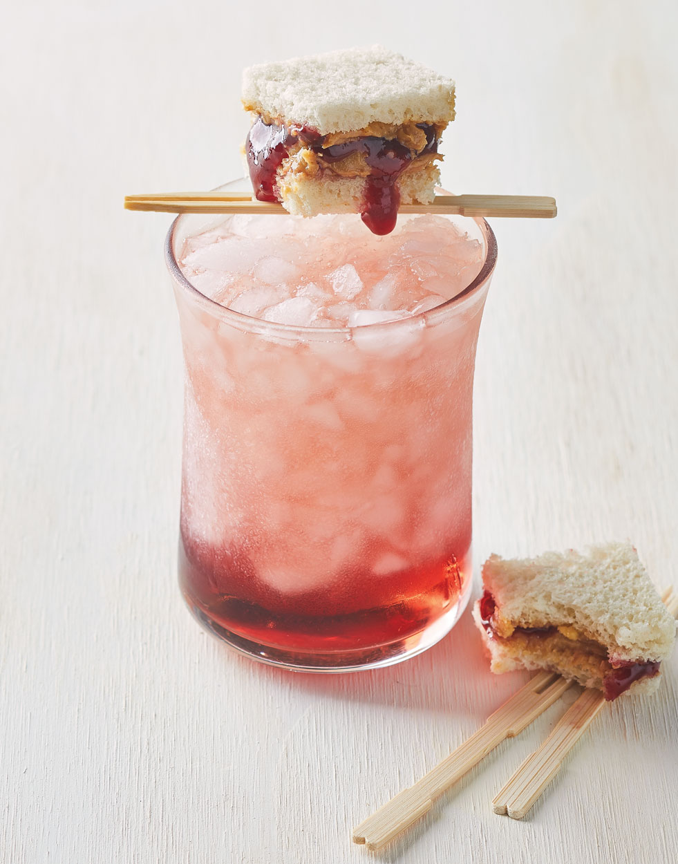 PB & J Cocktail with Skrewball Peanut Butter Whiskey