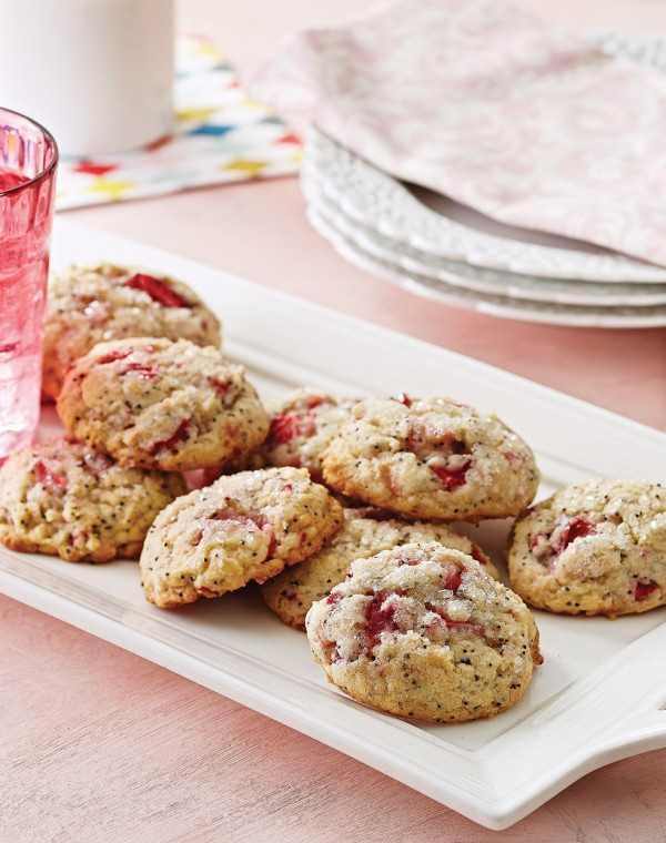 Strawberry-Poppy Seed Cookies